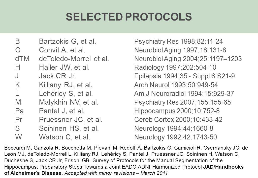 B Bartzokis G, et al. Psychiatry Res 1998;82:11-24 C Convit A, et al.
