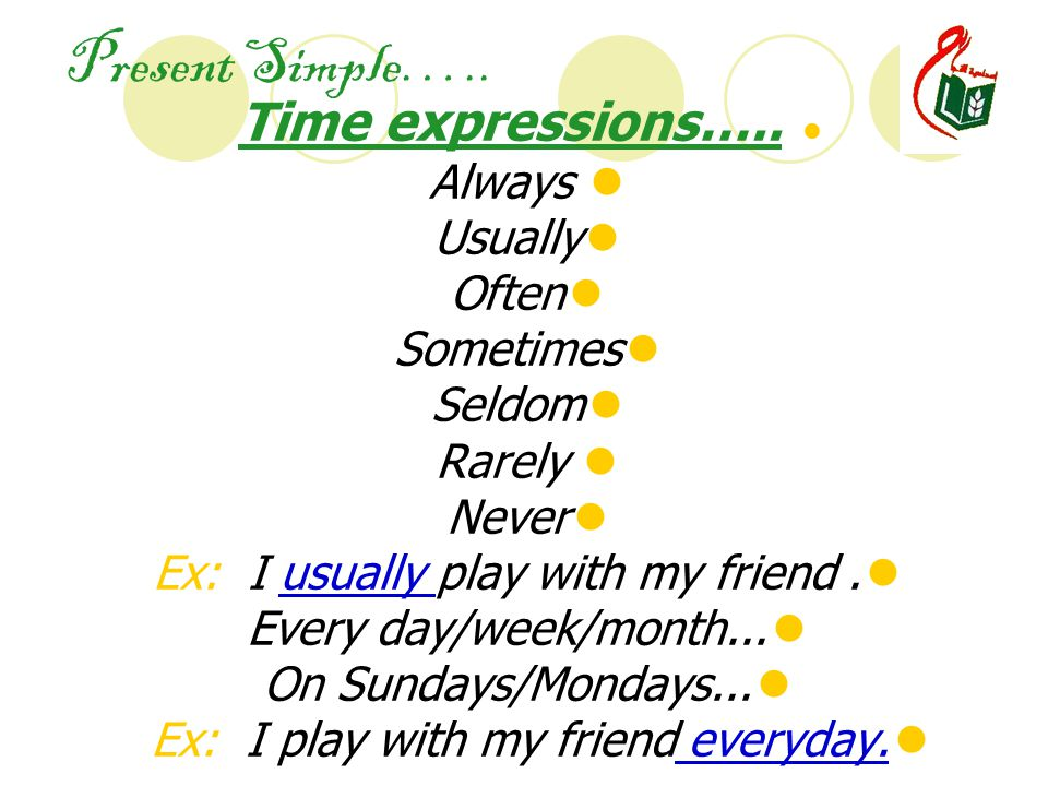 Present Simple….. Time expressions…..