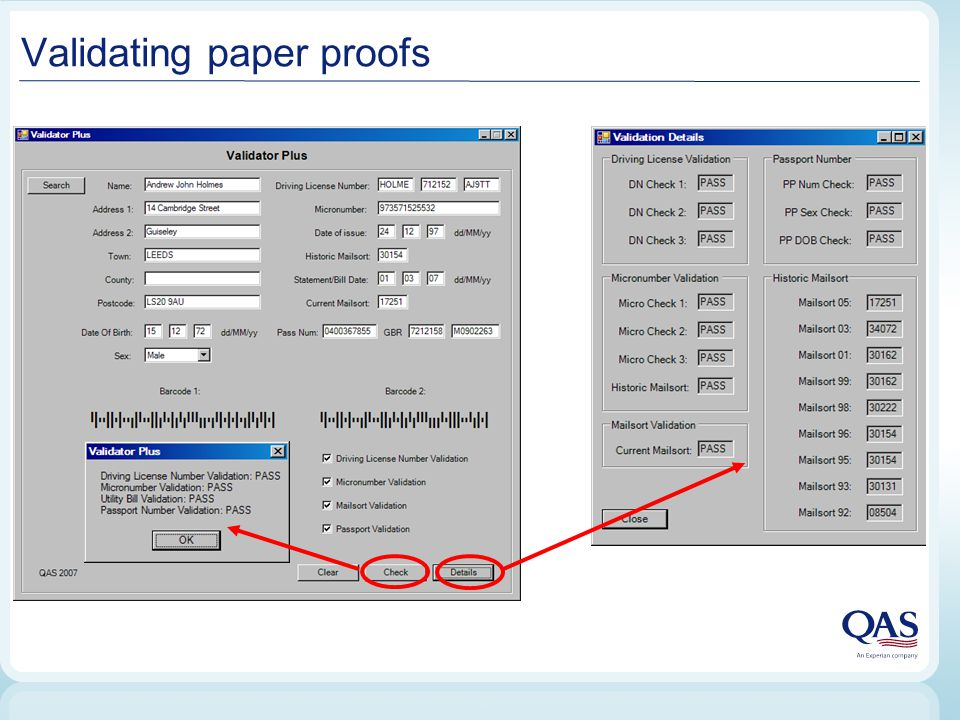 Validating paper proofs