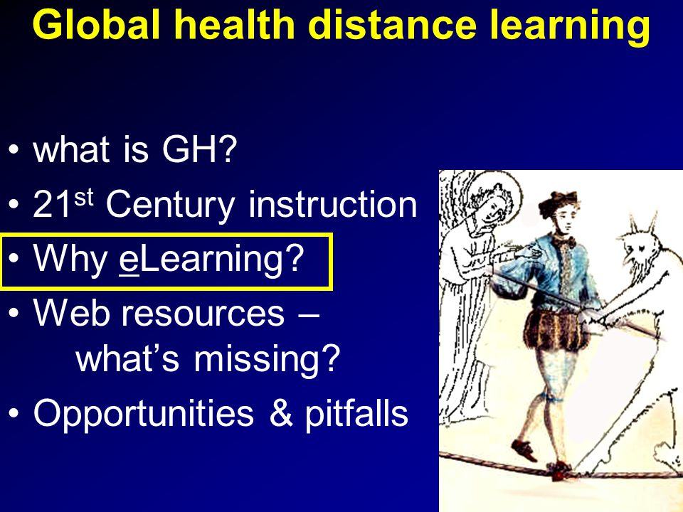 Overview & take home message what is global health & why now.