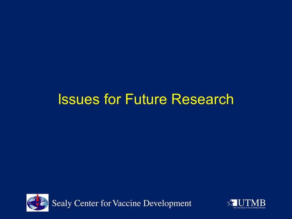 Issues for Future Research