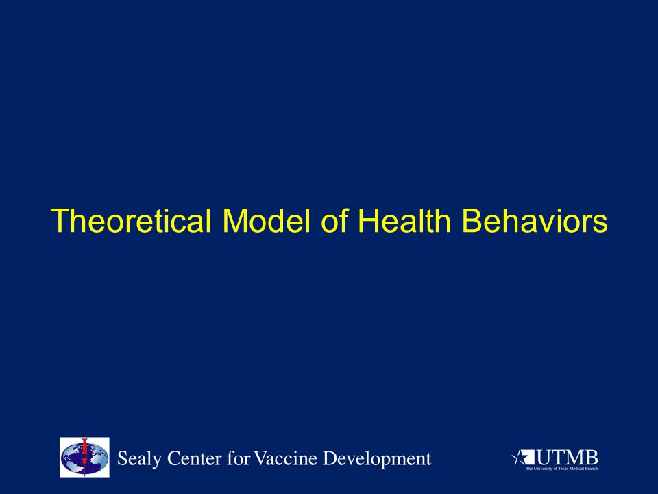 Theoretical Model of Health Behaviors