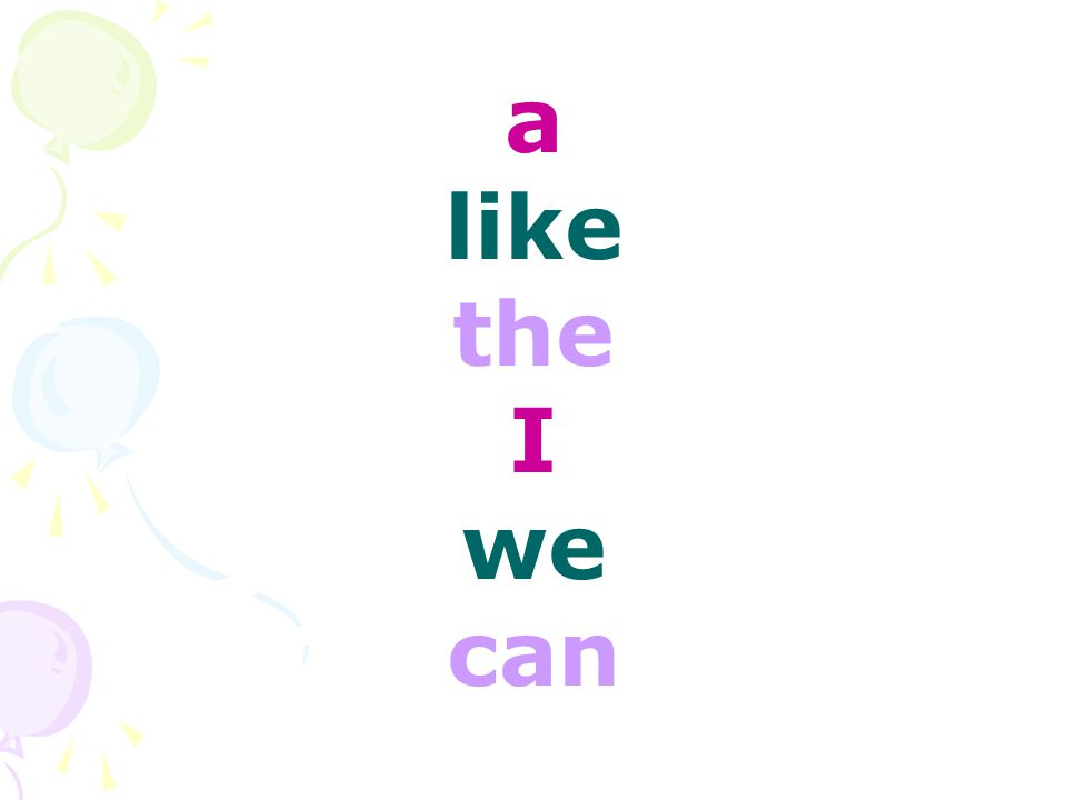 a like the I we can