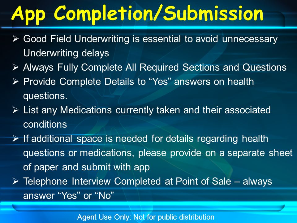 App Completion/Submission  All Applicants must Complete Section A (Questions 1 & 2)  If applying for DIR, Complete Section B (Questions 3 & 4)  If Applying for CIR, Complete Section B (Questions 3 & 4), plus Complete Section C (Question 5)  Provide details in Section D  Applications can be submitted via scanning, Fax, or mail Agent Use Only: Not for public distribution