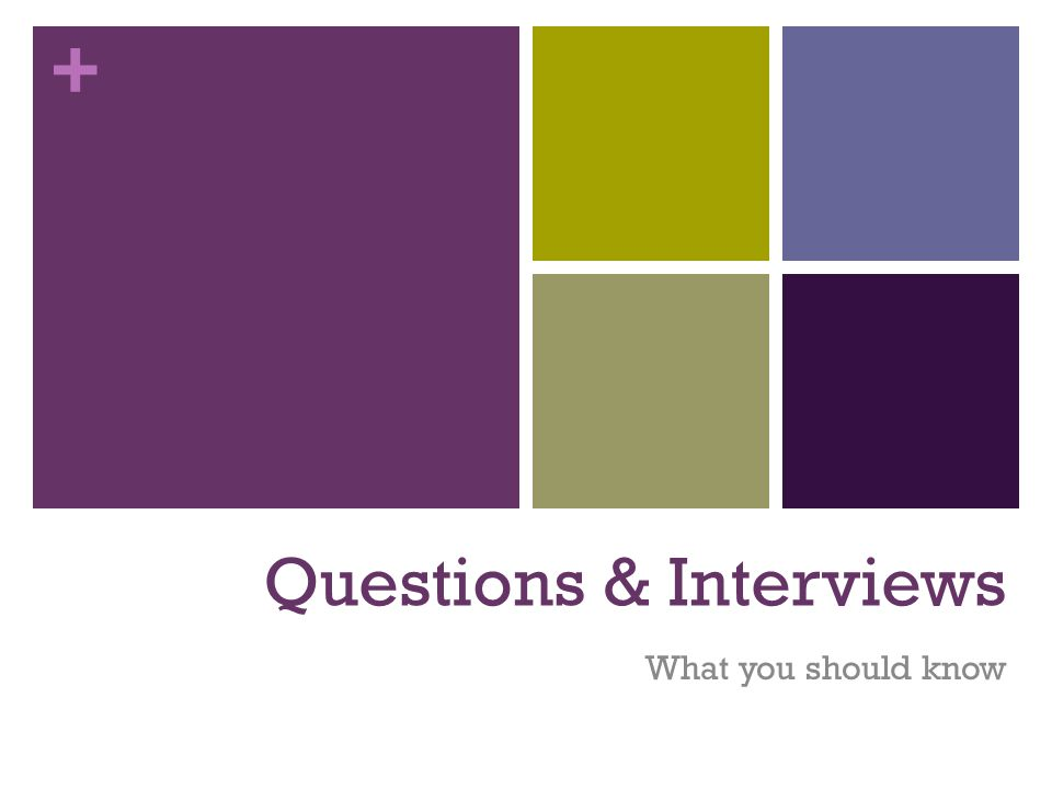 + Final Interviewing Tips 2 4.