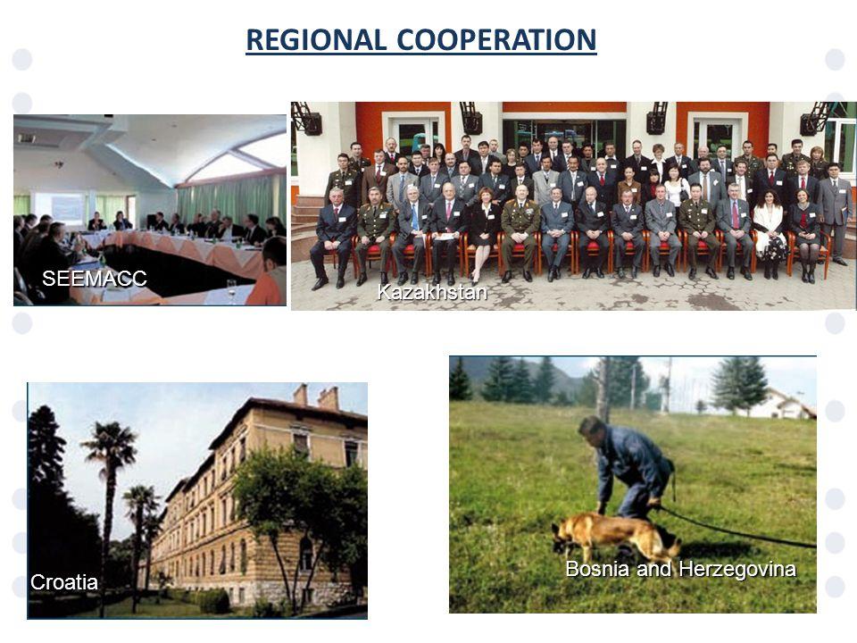 REGIONAL COOPERATIONCroatia Bosnia and Herzegovina SEEMACC Kazakhstan