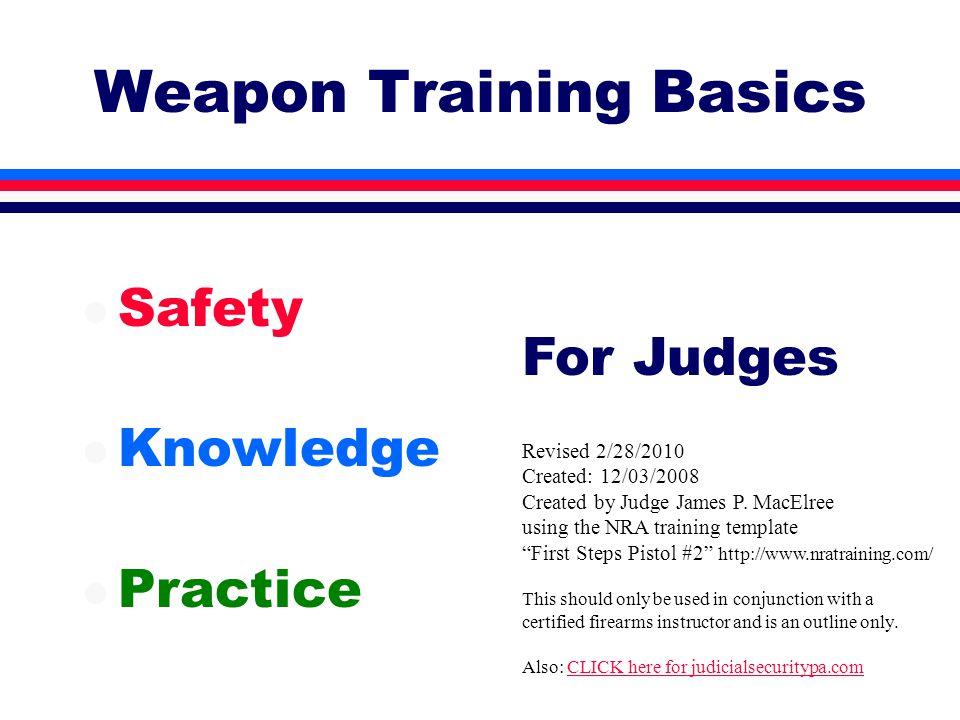 Ammunition & Fundamentals l Proper Ammo l Malfunctions l Hand/eye choice l Fundamentals