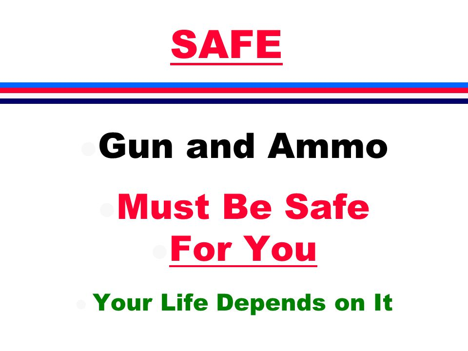 SAFE l Gun and Ammo l Must Be Safe l For You l Your Life Depends on It