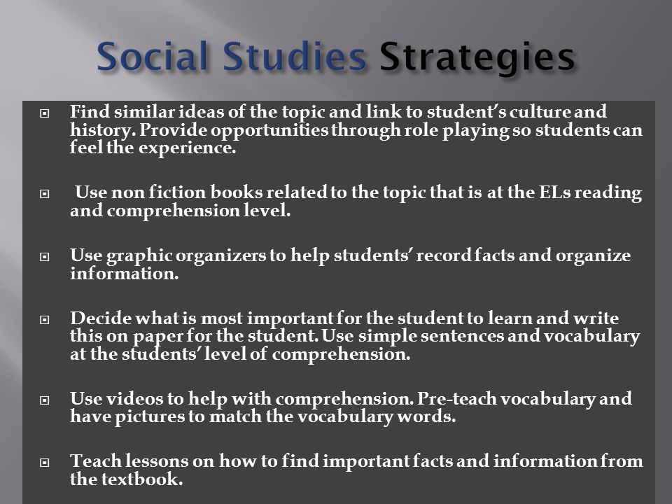  Find similar ideas of the topic and link to student's culture and history.