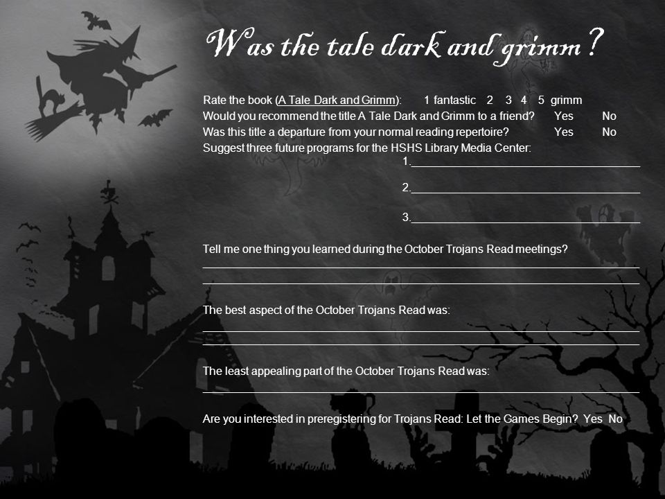 Was the tale dark and grimm.