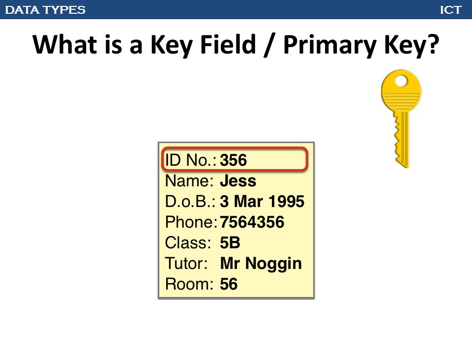 What is a Key Field / Primary Key?