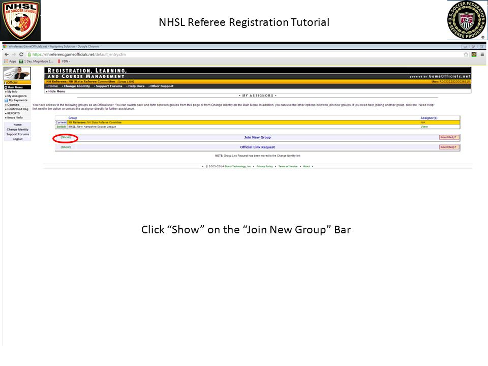 NHSL Referee Registration Tutorial Make Sure This Information Is Correct!!!!!!!!