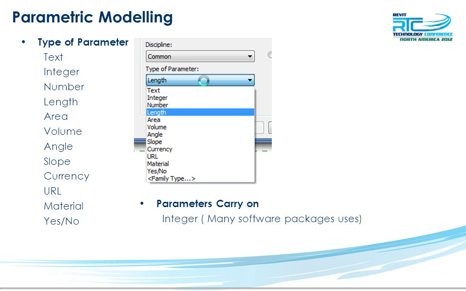 Parametric Modelling Building Relationships with Object's in REVIT –Create correct Reference Lines or Planes Set the appropriate origin Attach objects to the Reference Lines Adding new parameters to dimensions
