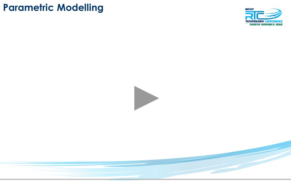 Parametric Modelling Reference Points and Planes –Vasari is limited on Design know its limits –Use what you've learned so far –Place as many or as little parameters as needed Reference Points and Planes –Rotation values control Mid profile –Length controls reference points controlling spline of extrusion