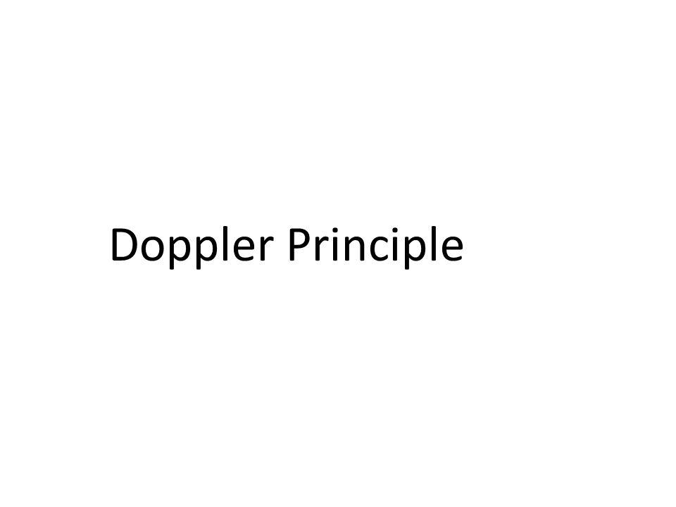 Doppler Principle