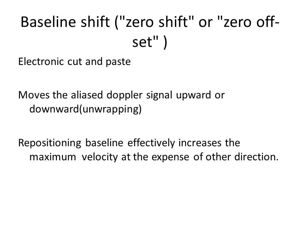 Baseline shift (