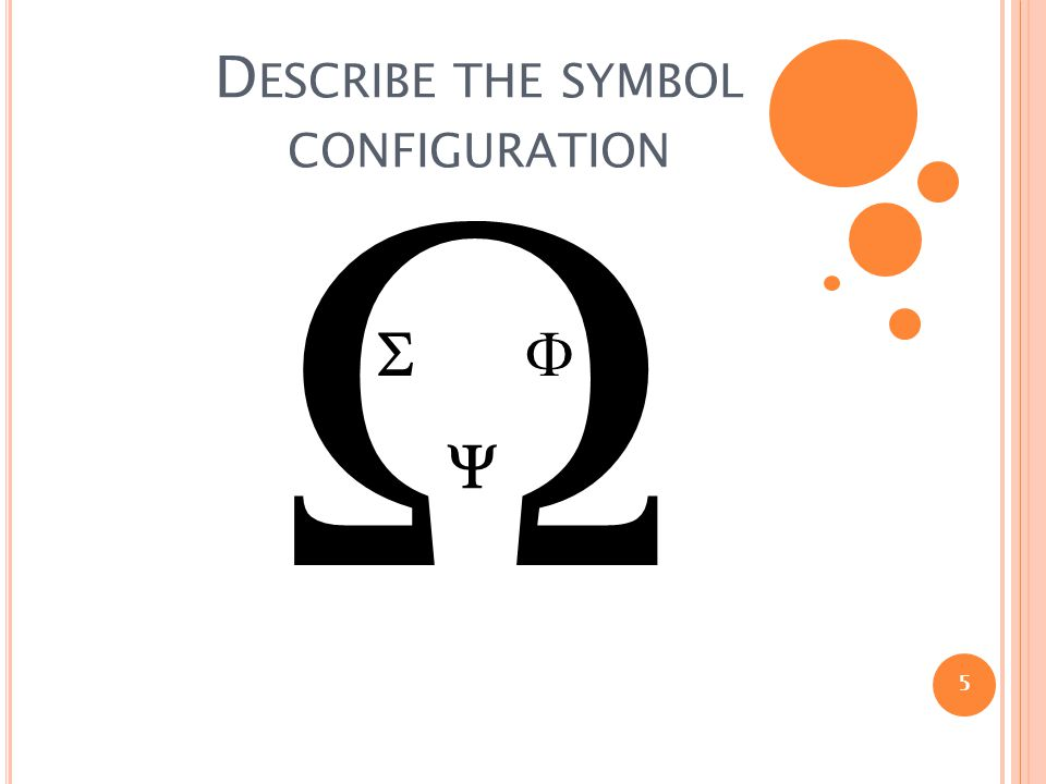 D ESCRIBE THE SYMBOL CONFIGURATION 5   