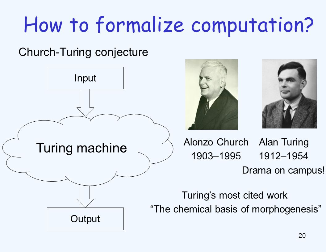 20 How to formalize computation.