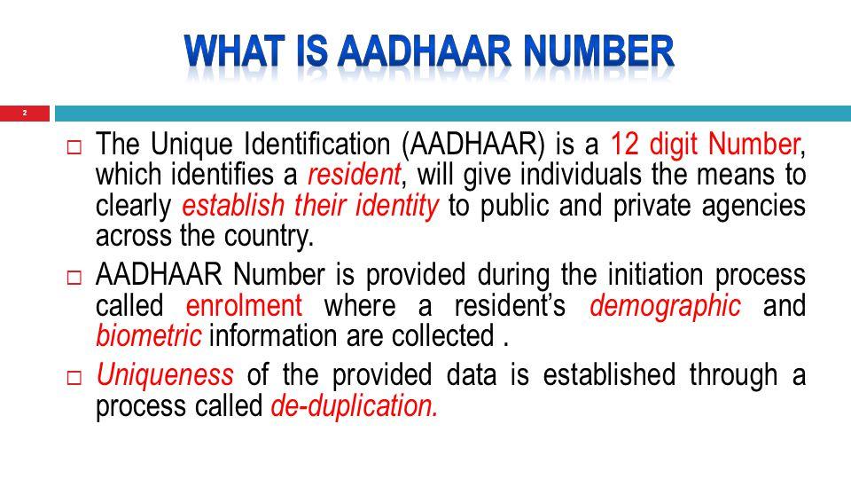 13 PAN Number User Aadhaar Number Authentication Device IT Dept/Registration Dept/Bank etc.