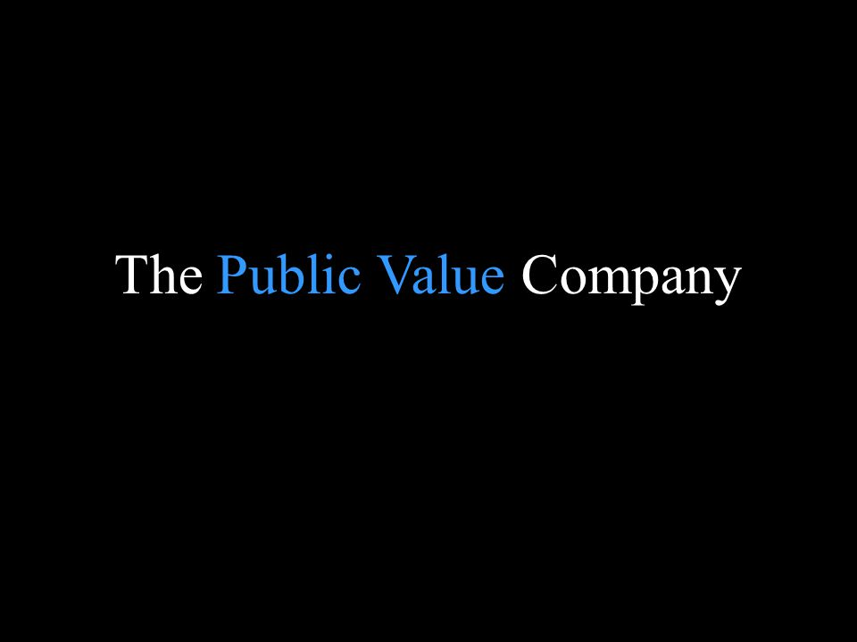 The Public Value Company