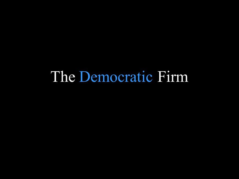 Blank page The Democratic Firm