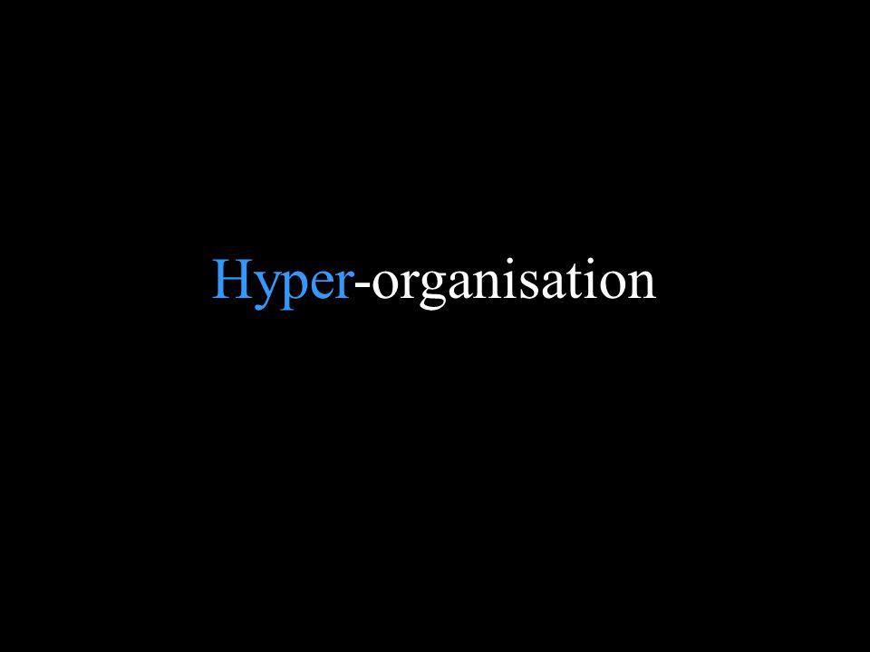 Blank page Hyper-organisation