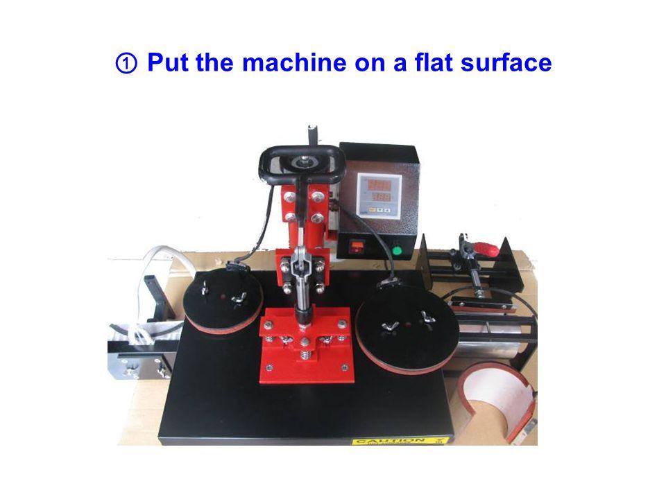 13 、 Fasten the lower heat platen.