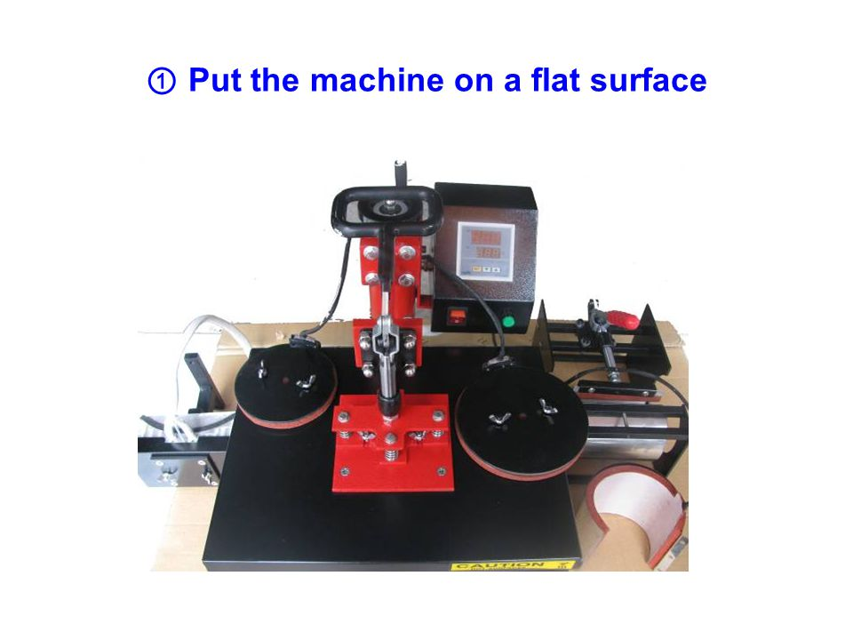 (3) PROCEDURE FOR PLATE HEAT PRESS OPERATION PROCEDURE FOR MULTI FUNCTION HEAT PRESS MACHINE