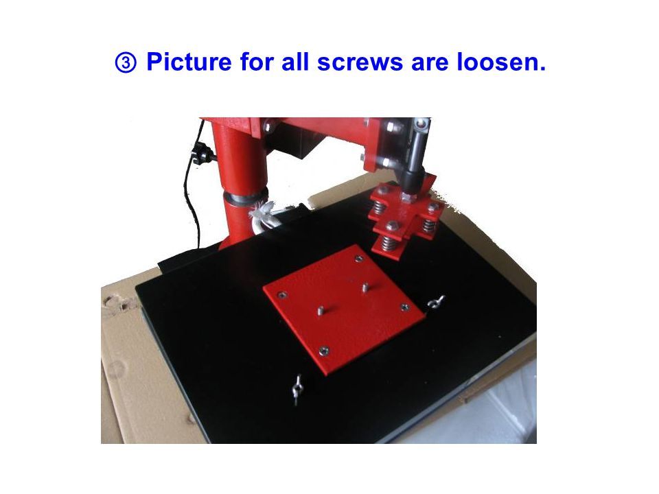 ③ Picture for all screws are loosen.