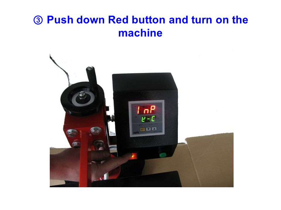 ④ After three seconds, machine display as below picture.