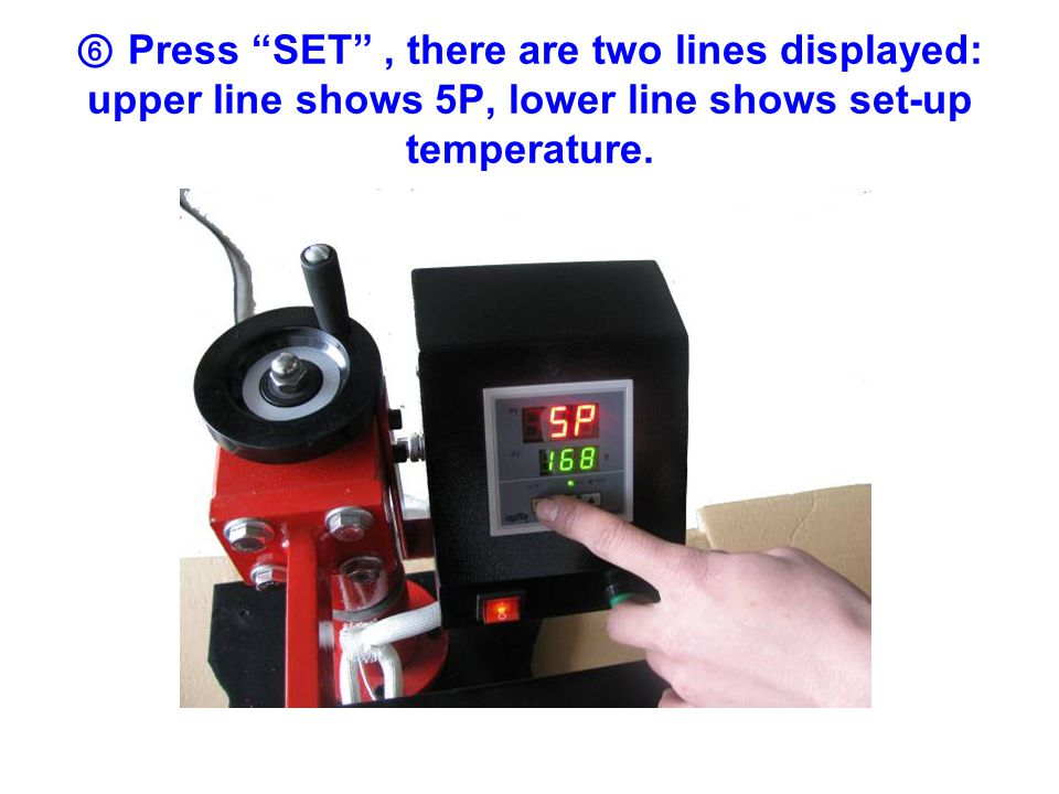 ① Put the machine on a flat surface