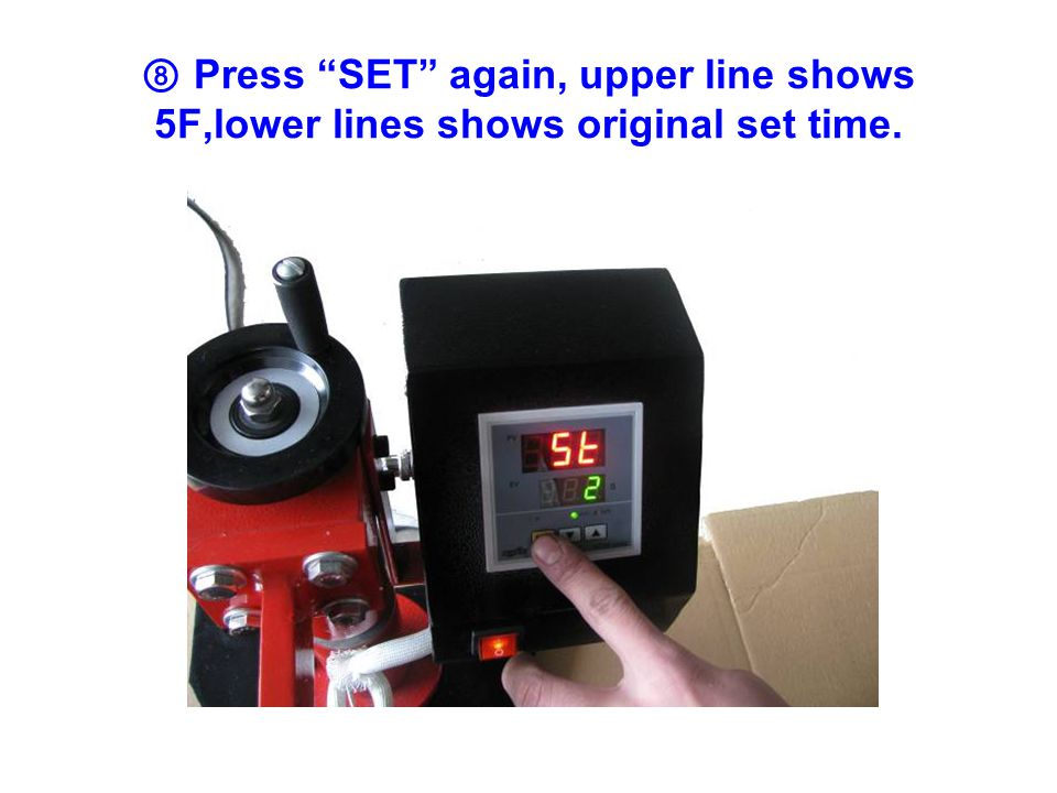 17 、 When upper line temperature shows the same with the lower line set-up temperature, then you can process plate heat transfer.