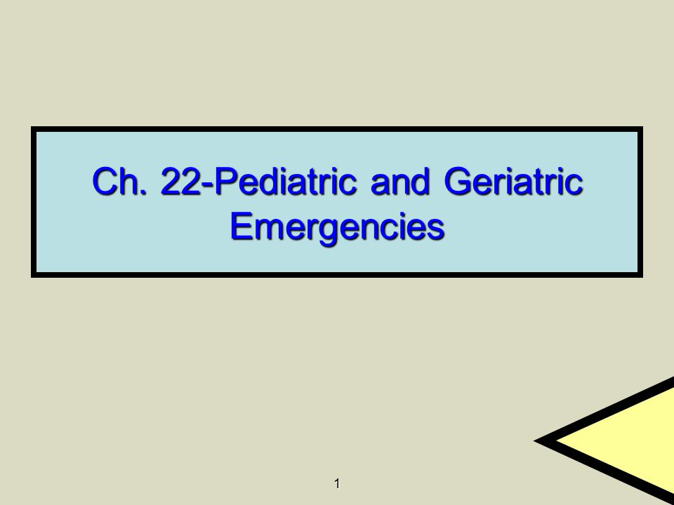 1 Ch. 22-Pediatric and Geriatric Emergencies