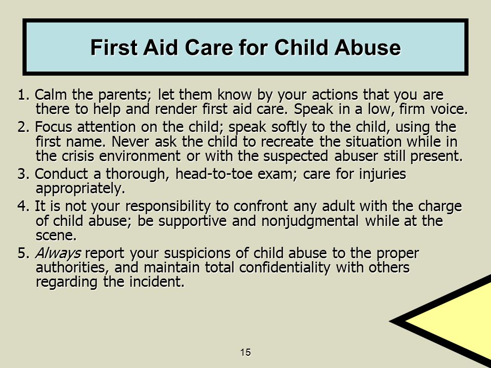 15 First Aid Care for Child Abuse 1.
