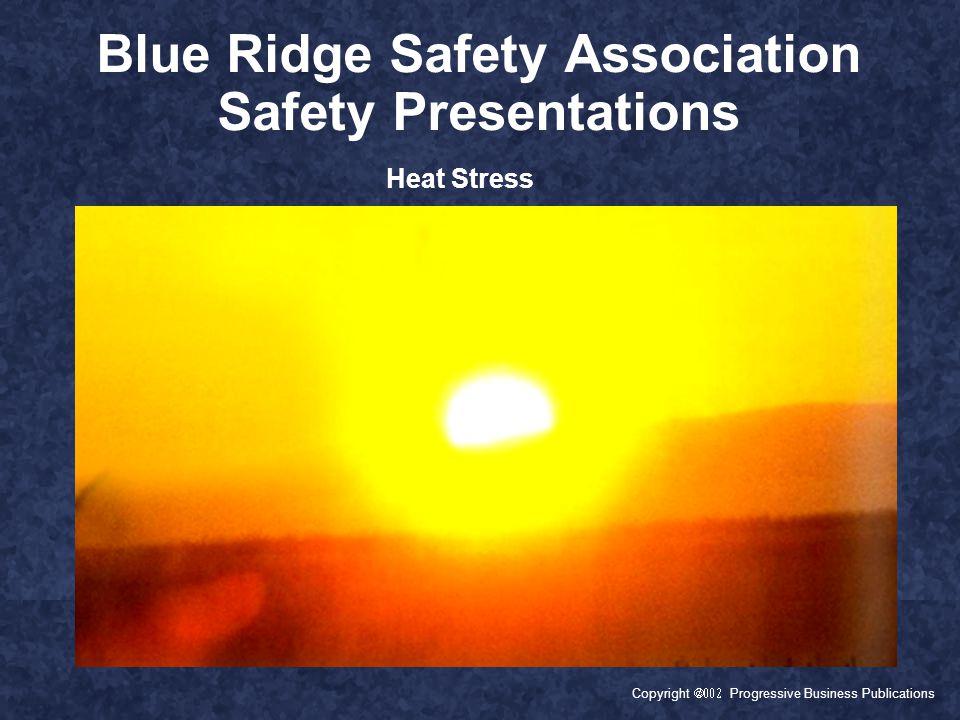 Copyright  Progressive Business Publications Blue Ridge Safety Association Safety Presentations Heat Stress