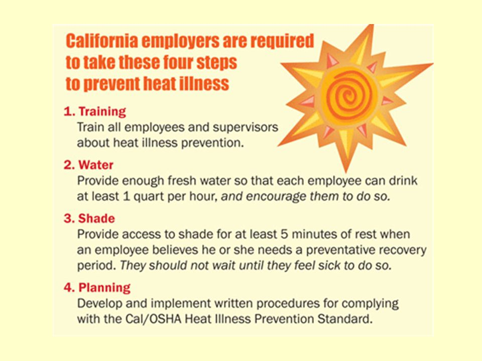 Heat Illness Prevention Daphne Thaung, MS, CIH Sarah Meyer, ASP UCSD Environment, Health & Safety http://blink.ucsd.edu/go/preventheatillness