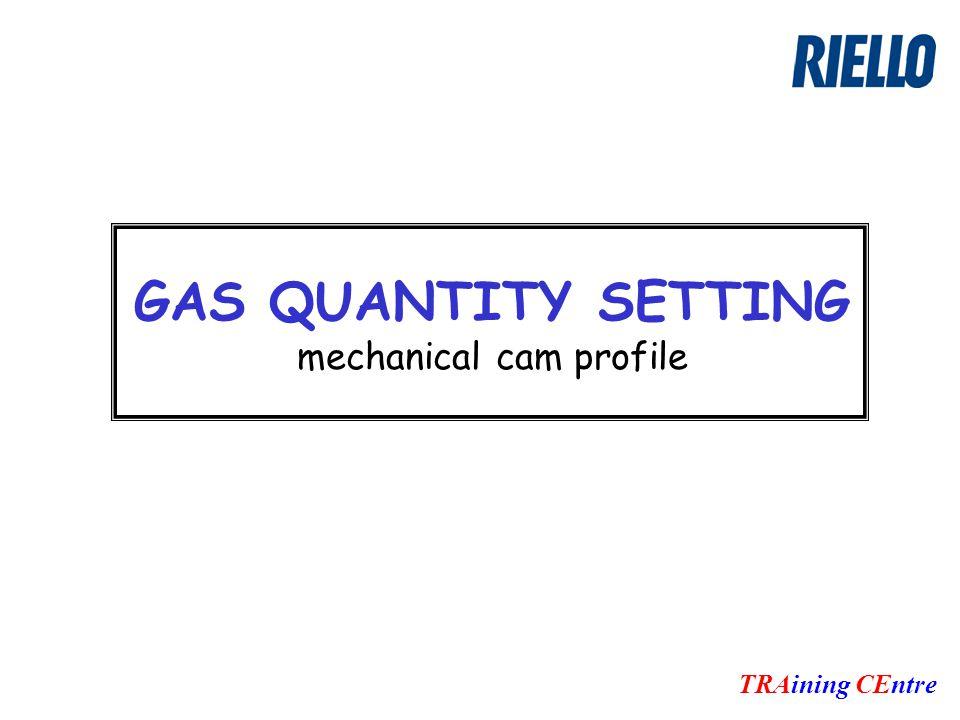 GAS QUANTITY SETTING mechanical cam profile TRAining CEntre