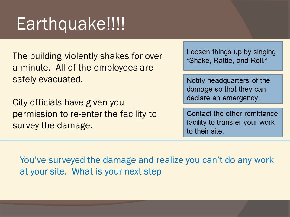 Earthquake!!!.