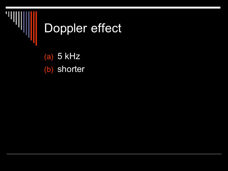 Doppler effect (a) 5 kHz (b) shorter
