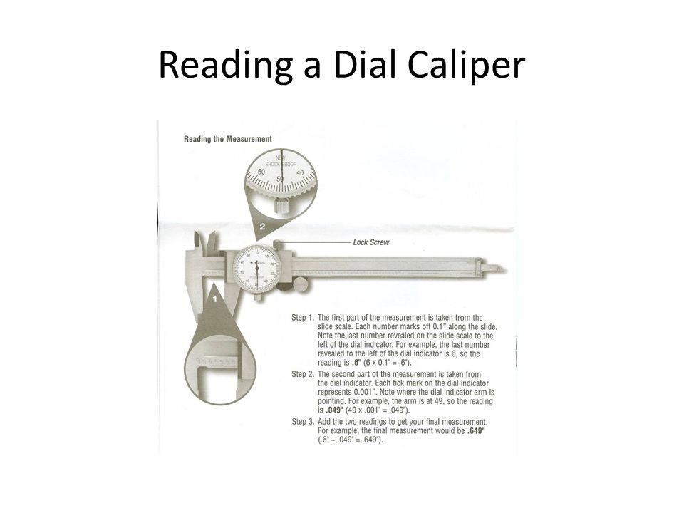 Reading a Dial Caliper