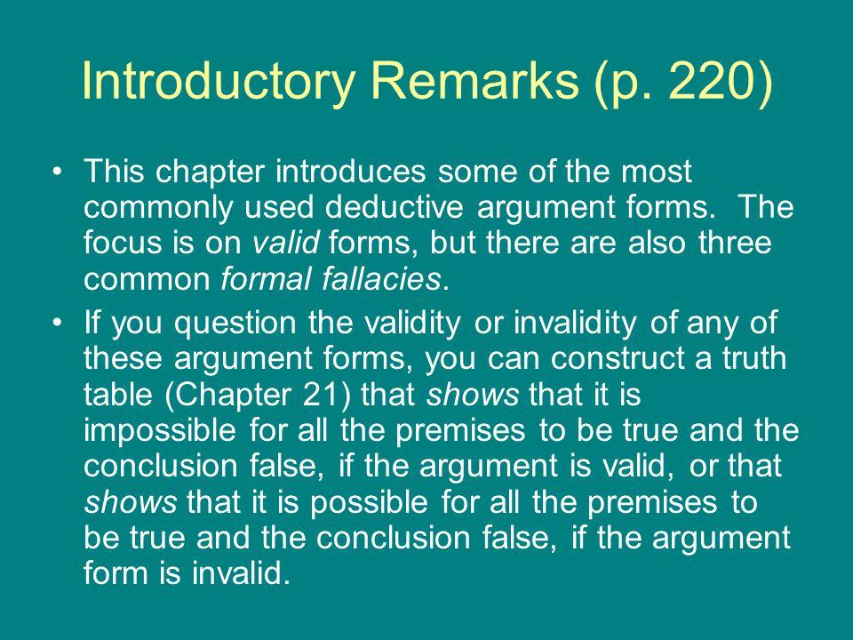 Valid Argument Forms (pp.