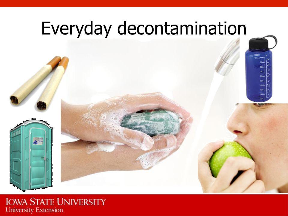 Everyday decontamination