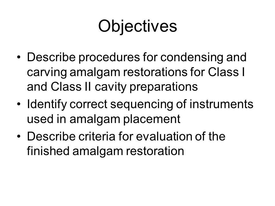 Finished Class I Amalgam