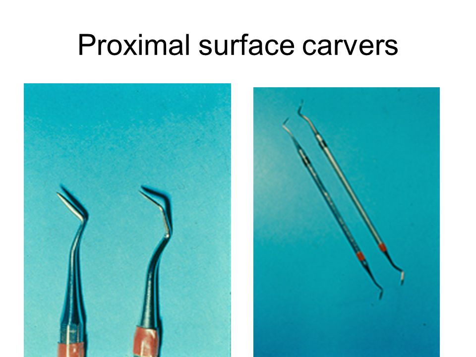 Proximal surface carvers