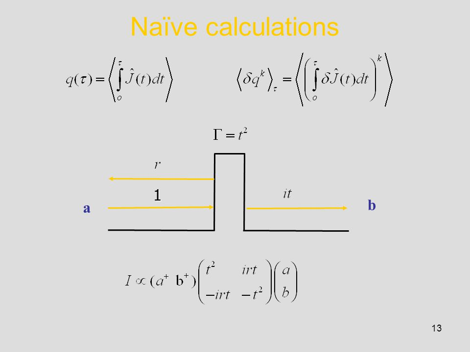 13 Naïve calculations a b 1