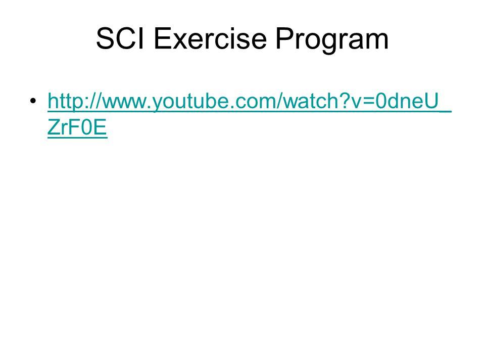 SCI Exercise Program http://www.youtube.com/watch?v=0dneU_ ZrF0Ehttp://www.youtube.com/watch?v=0dneU_ ZrF0E