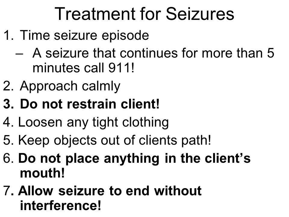 Treatment for Seizures 8.