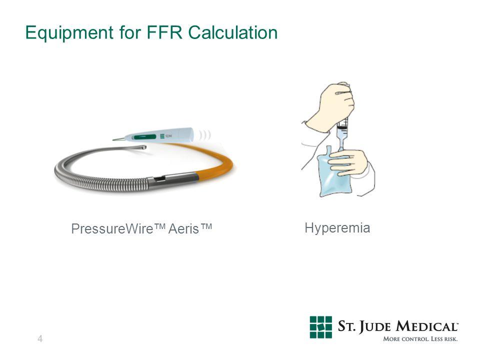 Equipment for FFR Calculation 4 PressureWire™ Aeris™ Hyperemia