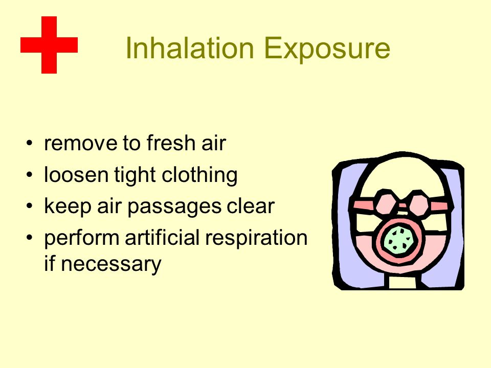 Inhalation Exposure remove to fresh air loosen tight clothing keep air passages clear perform artificial respiration if necessary