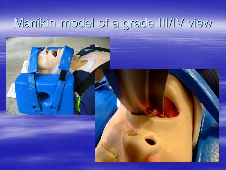 Manikin model of a grade III/IV view